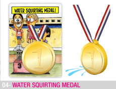 Water squirting medal