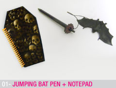 Jumping Bat pen + Notepad