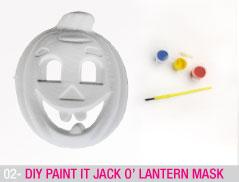 DIY Paint it Jack o' Lantern mask