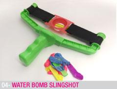 Water bomb slingshot